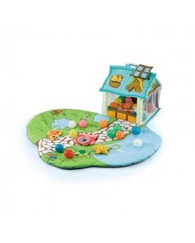 Spielmatte mit Haus und Garten