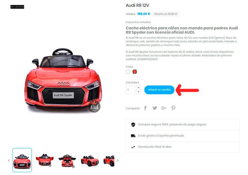 comprar coches eléctricos para niños